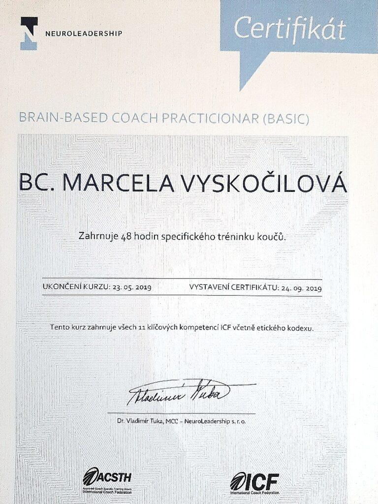 koučink - Marcela Vyskočilová